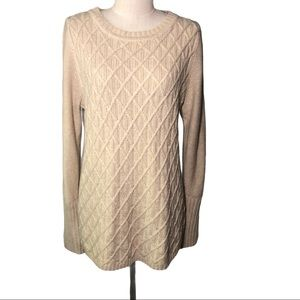 J. Crew M khaki textured front and back sweater